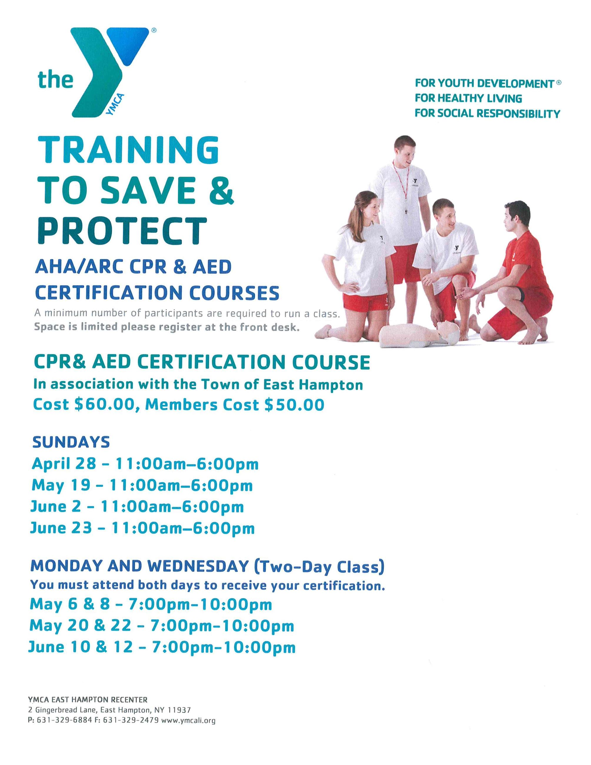 CPR  AED Training Flyer
