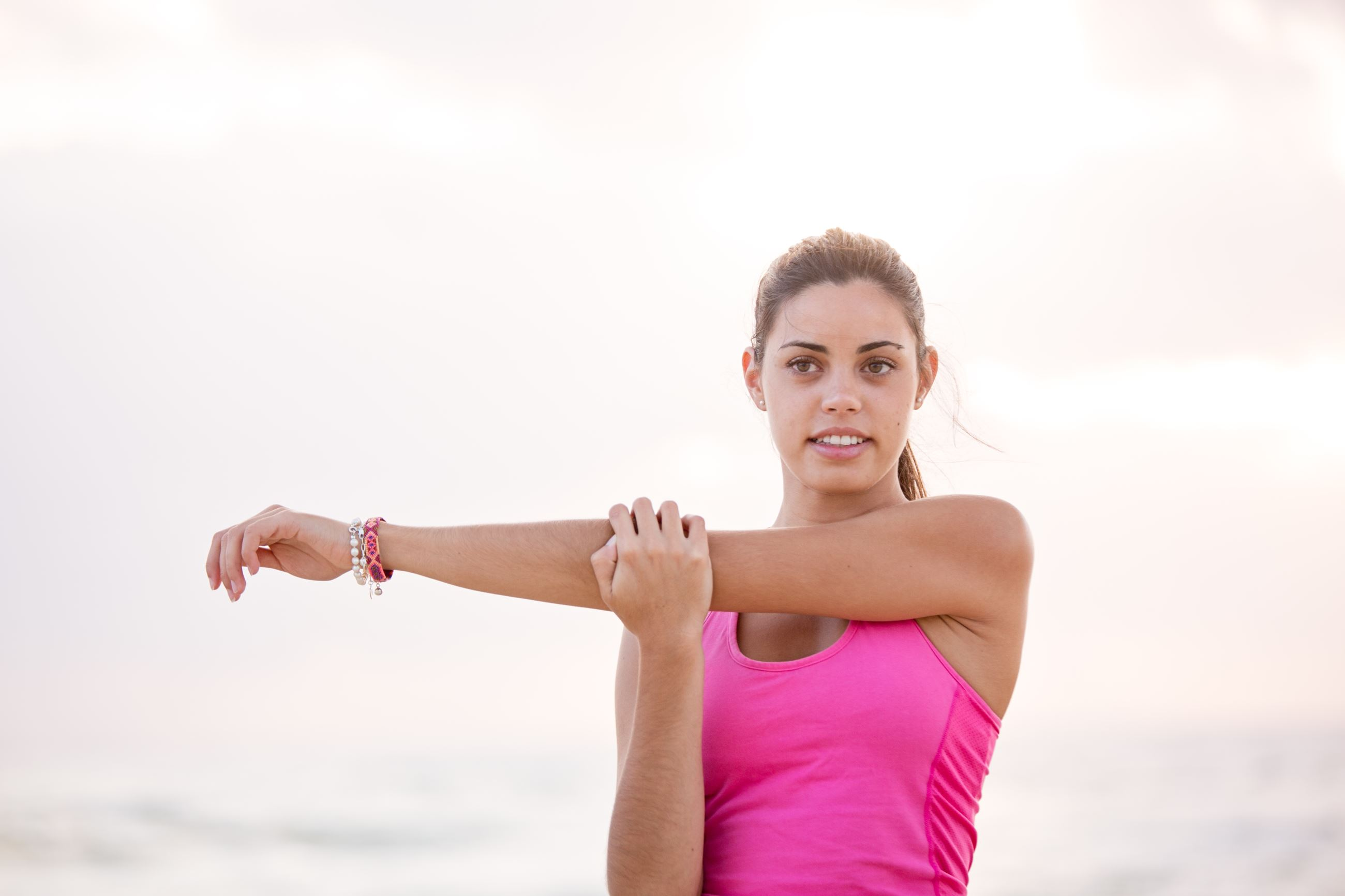 woman in exercise clothes
