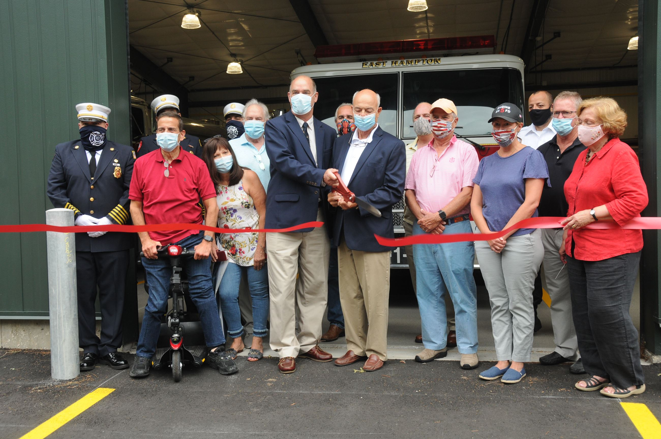 Ribbon Cutting at the New EH Firehouse 8.7.20 c. Richard Lewin